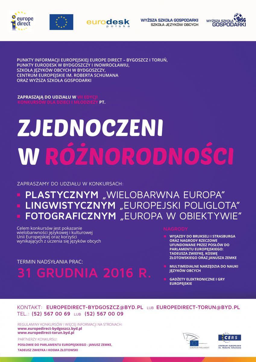 plakat_konkursy_Zjednoczeni_w_roznorodnosci_2016